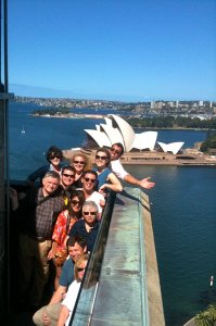'Doah photo courtesy of Nicholas Ruxton. One of the 2011 GCP groups in Australia.